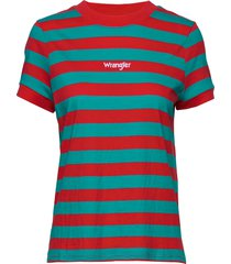 80s regular tee t-shirts & tops short-sleeved multi/mönstrad wrangler