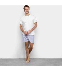 pijama duomo básico curto masculino - masculino