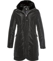 giacca lunga trapuntata (nero) - bpc selection