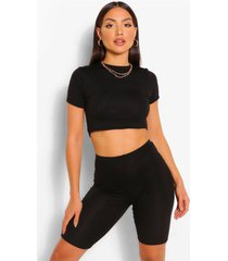 basic top and cycling shorts co-ord set