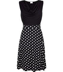 jurk alba moda zwart/wit