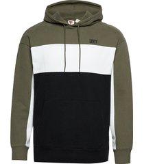 wavy colorbock hoodie wavy col hoodie trui groen levi´s men