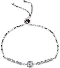giani bernini cubic zirconia bolo bracelet, created for macy's