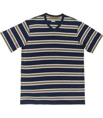 camiseta manga corta diseño rayas regular fit para hombre 97787