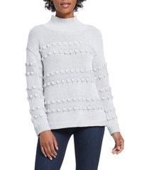 women's nic+zoe adore a ball texture stripe turtleneck sweater
