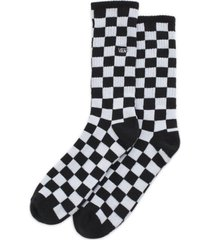 calcetin algodón checkerboard crew ii negro hombre vans