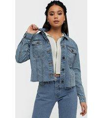 noisy may nmsury l/s jacket vi063lb bg noos jeansjackor