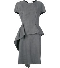 christian dior pre-owned structured dress - grey