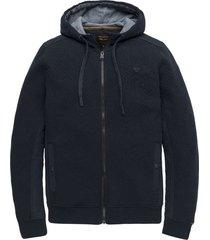 zip jacket double knit texture