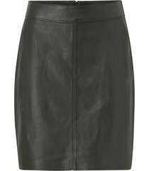 skinnkjol tracy short leather skirt