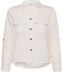 onlkaja ls shirt wvn långärmad skjorta vit only