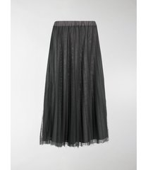 p.a.r.o.s.h. parallel pleated midi skirt