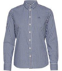 broadcloth gingham shirt långärmad skjorta blå gant