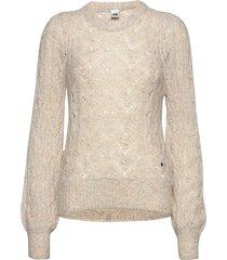 hazel sweater stickad tröja beige twist & tango