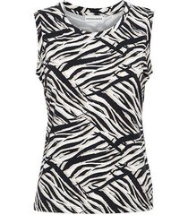 &co woman and co top veere zebra
