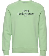 m original crew sweat-shirt tröja grön peak performance