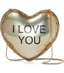 marc jacobs designer handbags, the balloon minaudiere gold plastic heart clutch