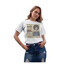 camiseta feminina mirat back to the 90s branco