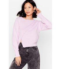 womens walking button sunshine asymmetric knit cardigan - lilac