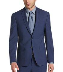calvin klein x-fit infinite stretch blue extreme slim fit suit