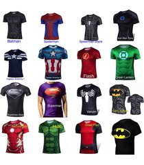 mens superhero t-shirt - compression fit