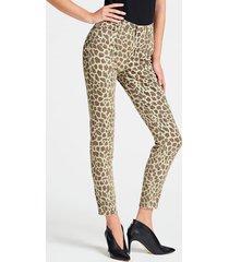 spodnie model skinny w zwierzęcy print