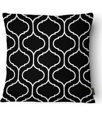 almofada decorativa serenity 087 50x50cm branca e preta