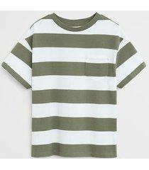 gestreept t-shirt met borstzak