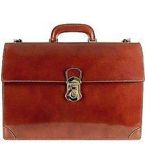 l.a.p.a. designer travel bags, classic cognac leather briefcase