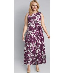 lane bryant women's floral tiered maxi dress 22 pickled beet