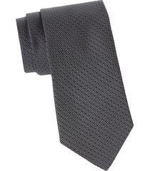 canali men's geometric silk tie - charcoal