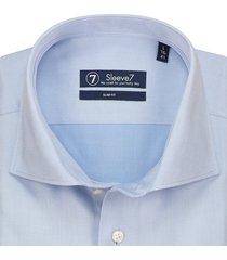 sleeve7 overhemd lichtblauw royal twill slim fit