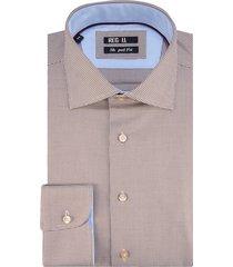 recall shaped fit overhemd met lange mouwen bruin