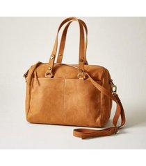 sundance catalog women's simpatico satchel in rust