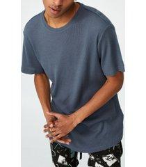 men's longline scoop waffle t-shirt