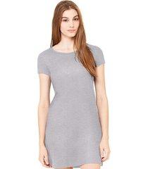 vestido criativa urbana liso básico cinza