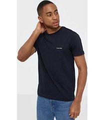 calvin klein cotton chest logo t-shirt t-shirts & linnen blue