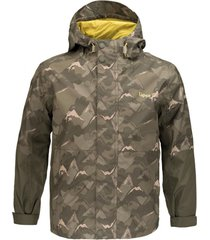 chaqueta torreto b-dry print verde militar lippi