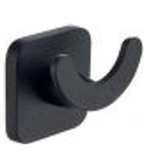 gancho de parede preto cabideiro duplo quadrado bolsa roupas