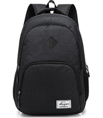 mochila para hombre, nuevo hombre mujer mochilas carga-negro