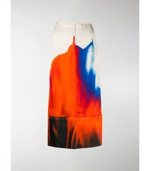 colville watercolor straight skirt