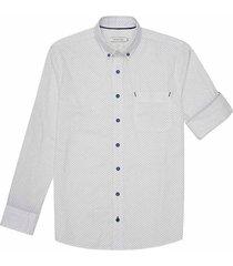 camisa casual manga larga estampada slim fit para hombre 94229
