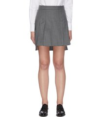 cotton dropped back pleated skirt