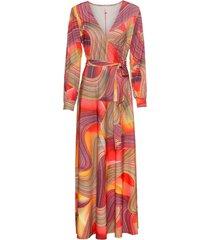 abito lungo a portafoglio (arancione) - bodyflirt boutique