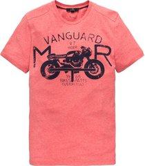 vanguard t-shirt rood moterprint