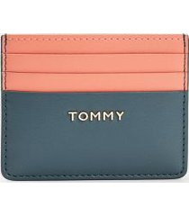 tommy hilfiger women's colorblock credit card holder charcoal blue -