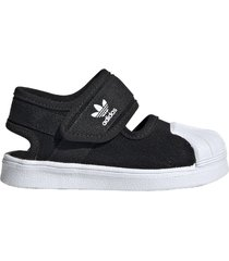 sandalia negra adidas superstar 360