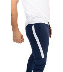 sudadera jogging azuloscuro/blanco manpotsherd ref: sb