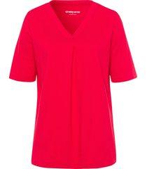t-shirt van 100% katoen met korte mouwen van green cotton rood