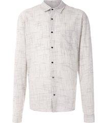 osklen rough thin shirt - neutrals